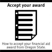 Accept your award